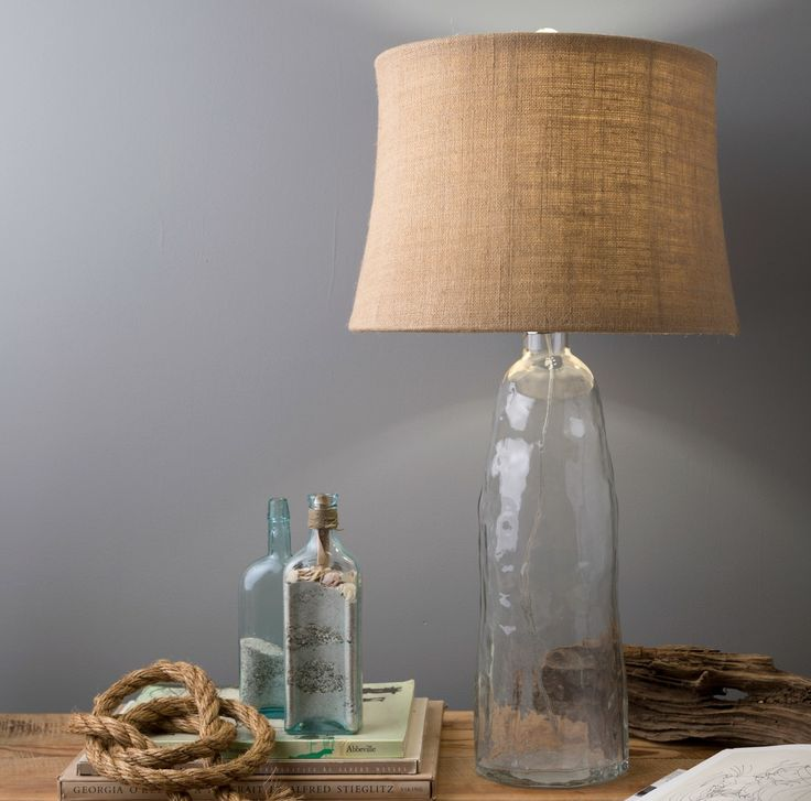 272 best coastal style lamps n lighting images on pinterest table clear waves recycled glass lamp aloadofball Choice Image