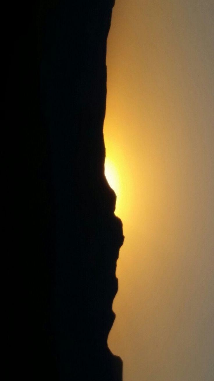 The berg sun set