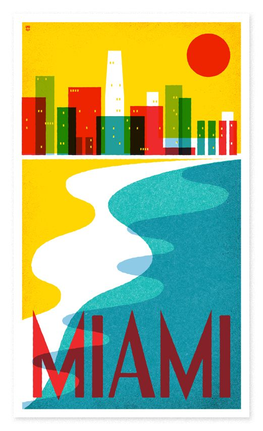 The Heads of State — US travel posters, limited edition silkscreens