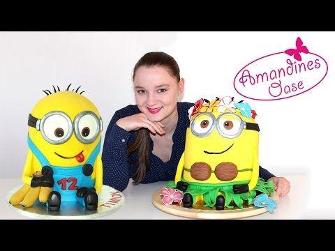 Minion Torte - 3D Fondanttorte | 2 Varianten | ausführliche Anleitung auf deutsch | Verlosung - YouTube