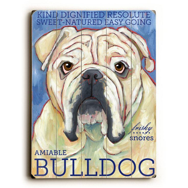 Bulldog Wood Sign
