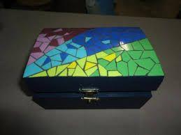 Resultado de imagen para cajas decoradas mosaico