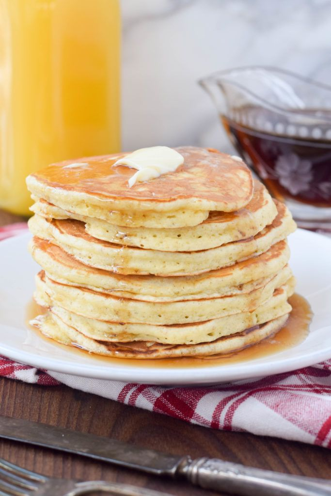 Easy homemade buttermilk pancake recipe perfect for family gatherings, sleepovers and weekend mornings. Soon to be your family's favorite!