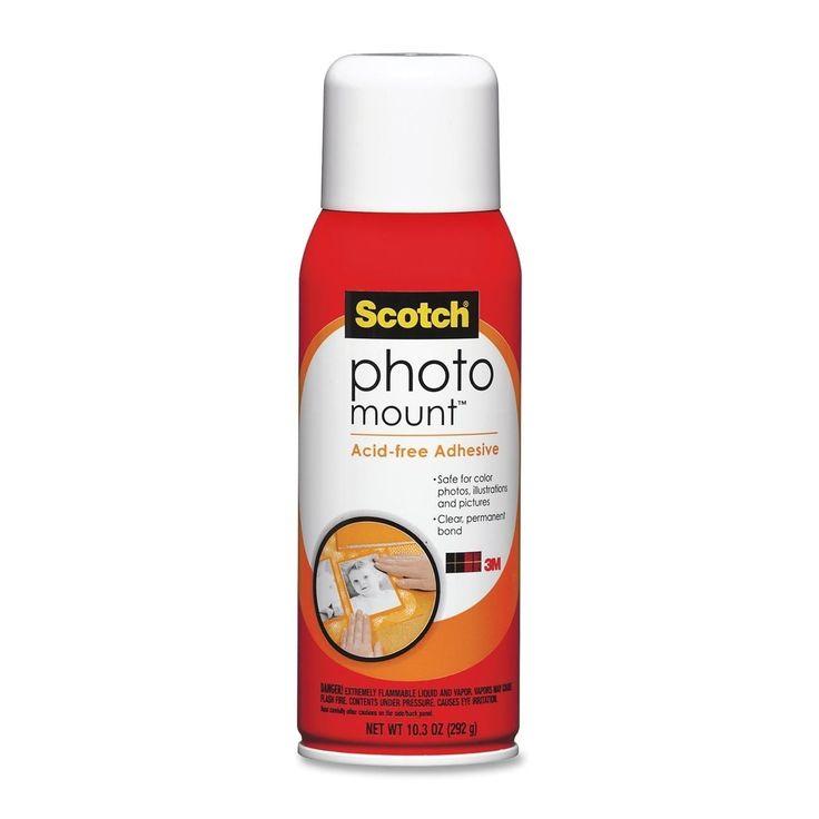 Scotch Photo Mount Spray Adhesive 10.3 oz Aerosol