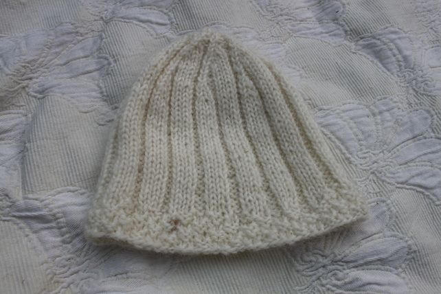 Icelandic Knitted Hat in Snow £13.00