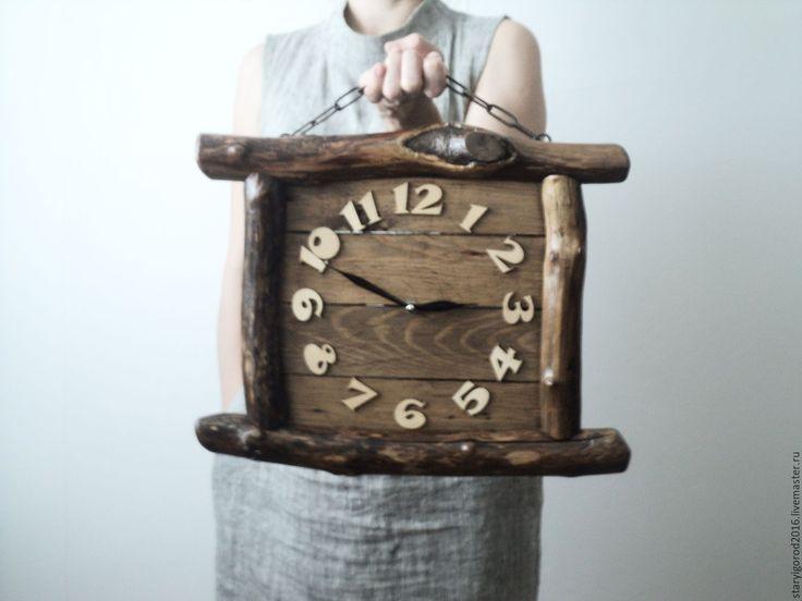 """Купить Часы """"Таверна"""" - коричневый, часы, интерьер, предметы интерьера, настенные часы, винтаж, рустик"""
