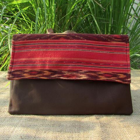 Ikat Tenun Clutch Bag - Handmade clutch bag by DeNesia