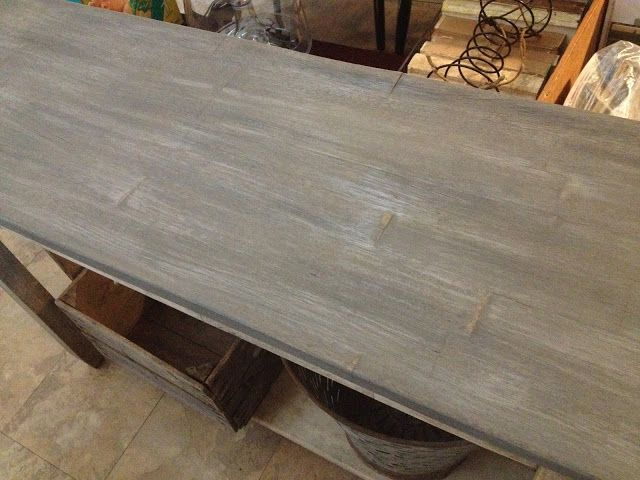 Pine Stain Classic Grey Then Dry Brush Water Based White