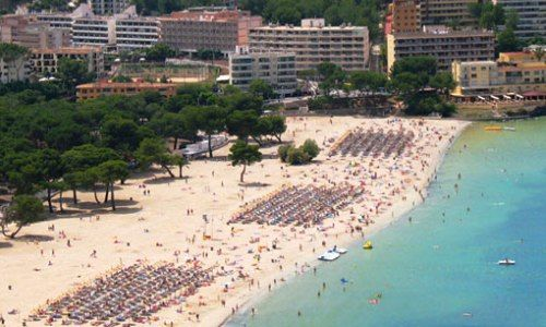 Santa Ponsa is one of the best Beaches of Mallorca on the Balearic Islands of Spain in the Mediterranean