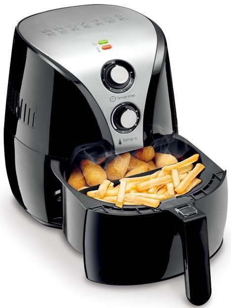 """Oil free deep fryer : For those who are looking for something cool but want the """"healthy option"""" then this is the gadget for your kitchen. Great for making easy dinners for the kids. www.twokitchenjunkies.com"""