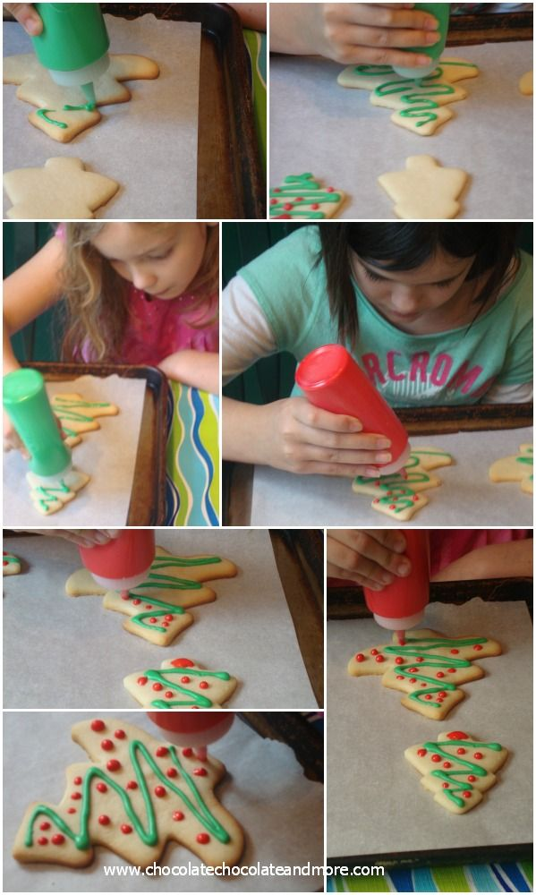 Decorating Cookies with Royal Icing-Christmas Trees