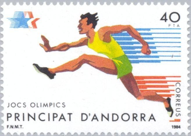 Stamp: Olympic Games- Los Angeles (Andorra, Spanish Administration) (Summer Olympics 1984, Los Angeles) Mi:AD-ES 177,Sn:AD-ES 164,Yt:AD-ES 169,Edi:AD-ES 177