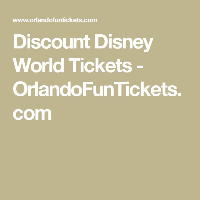 Discount Disney World Tickets - OrlandoFunTickets.com