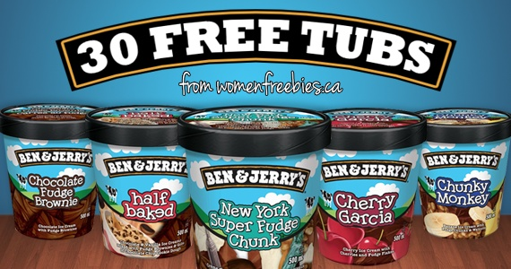 Win 1 of 30 Free Tubs of Ben