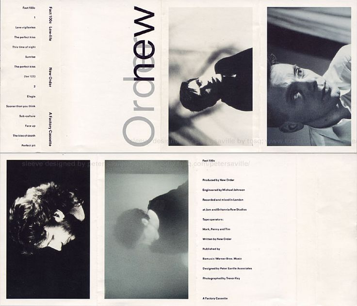 Sleeve designed by Peter Saville: Sleeves 1983-1986