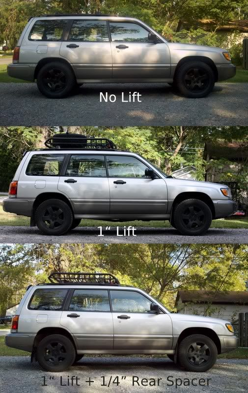 2001 Subaru Outback Custom >> Lifting a Subaru w/ 1 inch lift & 1/4 inch spacer | Eekkk ...