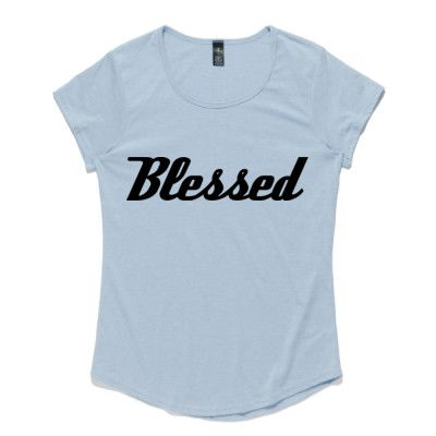 Ladies Christian T-Shirt - Blessed