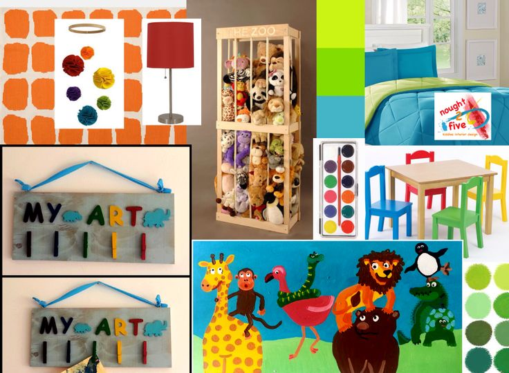 Funny animal themed bedroom, design and painting by nought 2 five. www.facebook.com/noughttwofive