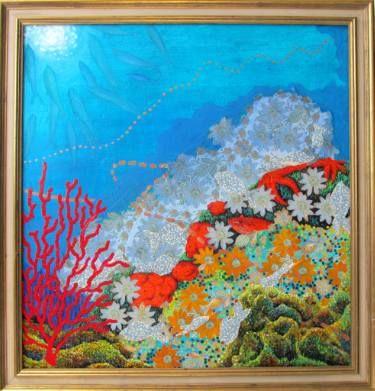 "Saatchi Art Artist Karlijn Surminski; Collage, ""shark trail"" #art"