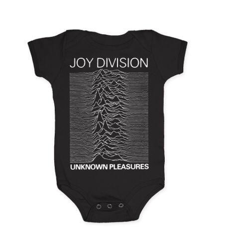 Joy Division Unknown Pleasures Infant Romper, Black (18 Months)