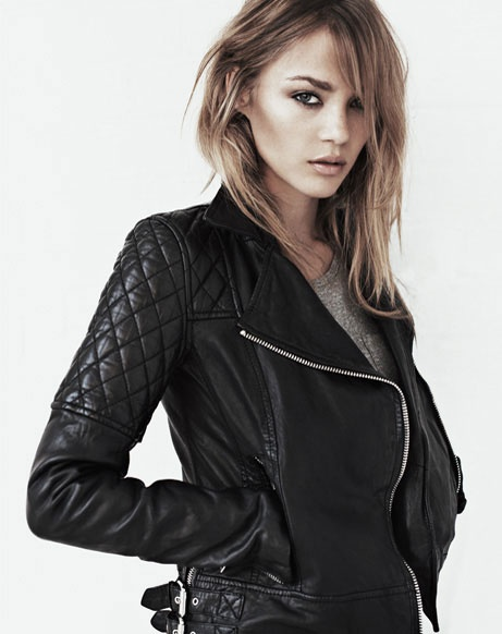 All Saints Leather Jacket - been looking at one from here for months. Love the quilted sleeves
