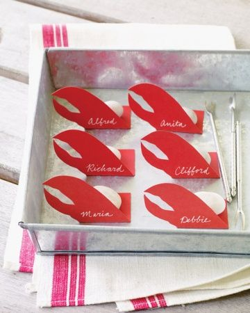 obsessing over these lobster place cards {cute for a clam bake}