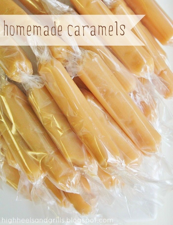 Yummy Homemade Caramels! These are the chewiest and tastiest caramels I've ever had. SO much better than the store bought ones and they would make fabulous neighbor gifts!!