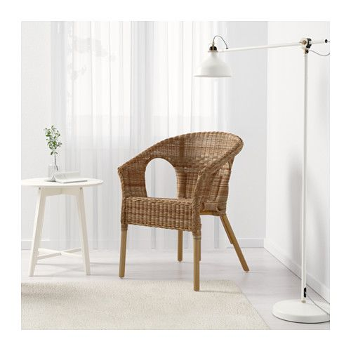 AGEN Armchair IKEA Handwoven; each piece of furniture is unique. Stackable chair; saves space when not in use.