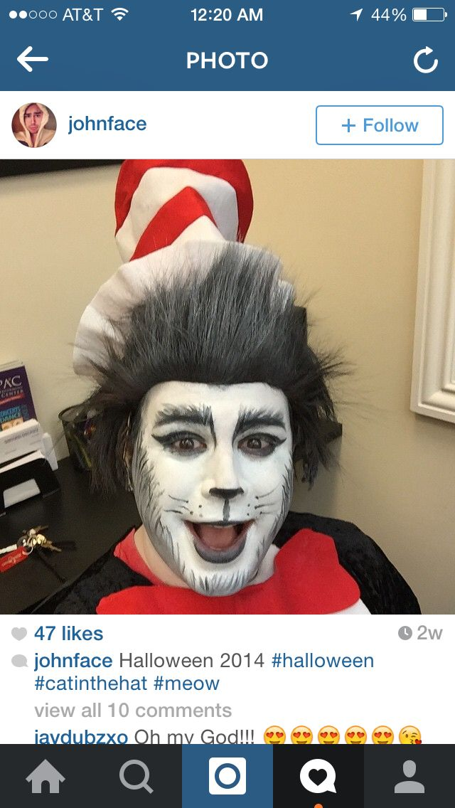 Mike myers cat in the hat makeup