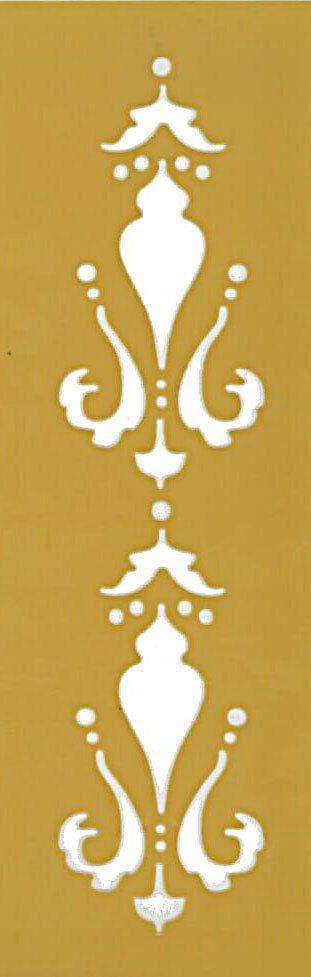 Plantilla flexible de stencil para pintar en pared, madera y otras superficies  Tamaño: 4 * 10 (10 * 25 cm) Grueso: 1 mm  Esta hecha de plástico flexible stensil.  Otros plantillas disponibles aquí: http://www.etsy.com/shop/Sdwstore/search?search_query=stencil&order=date_desc&view_type=gallery&ref=shop_search