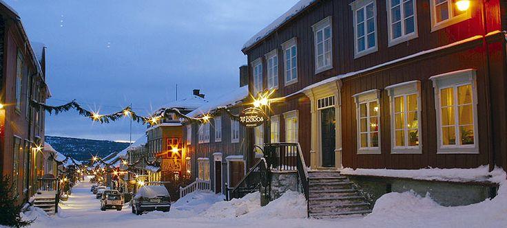 Christmas in Røros, Norway - Foto: Røros info. Røros is a UNESCO´s world heritage site.