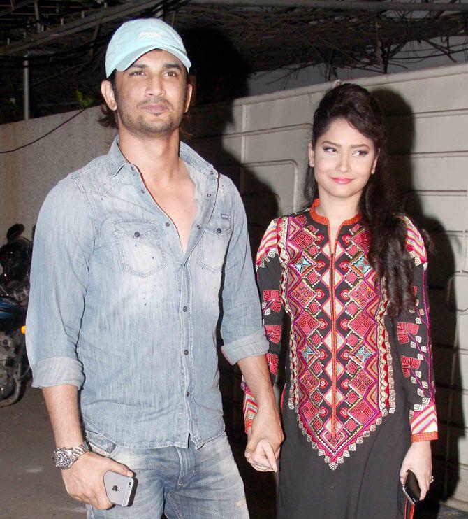 Sushant Singh Rajput and Ankita Lokhande at success bash of 'Tanu Weds Manu Returns'. #Bollywood #Fashion #Style #Beauty