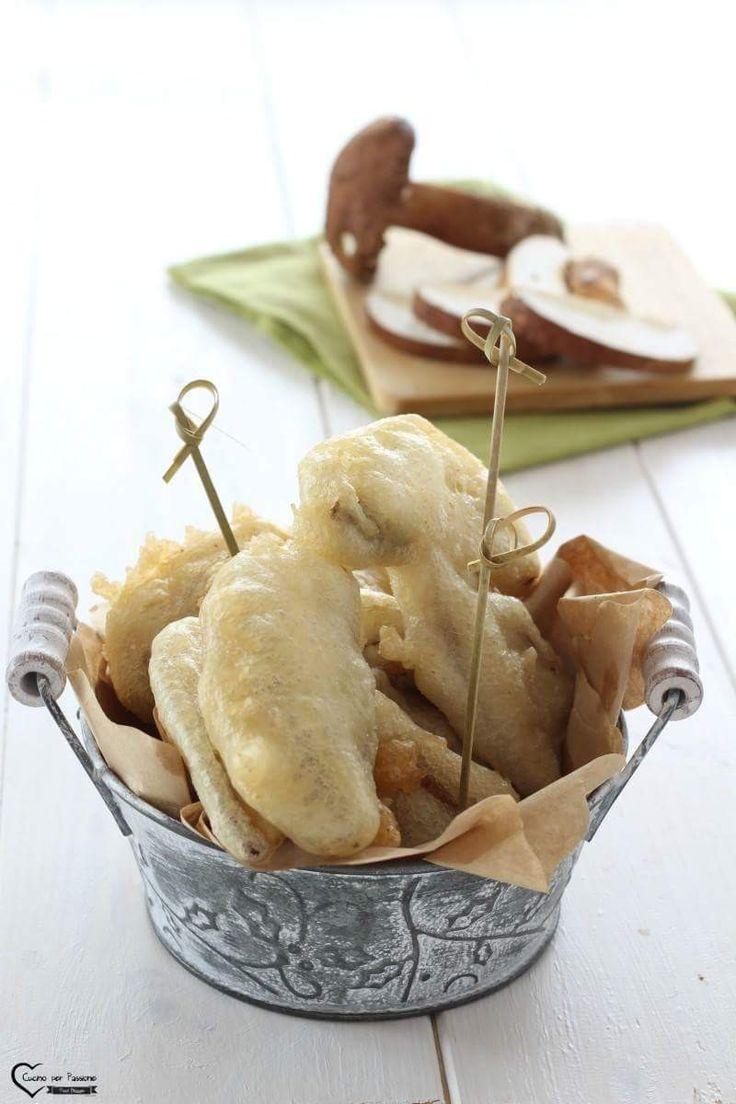 Porcini Fritti, delizioso antipasto o contorno a voi la scelta. La ricetta la trovate qui ----> http://blog.giallozafferano.it/cucinoperpassione/funghi-porcini-fritti/