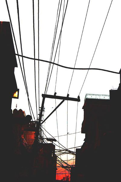 electric lines.