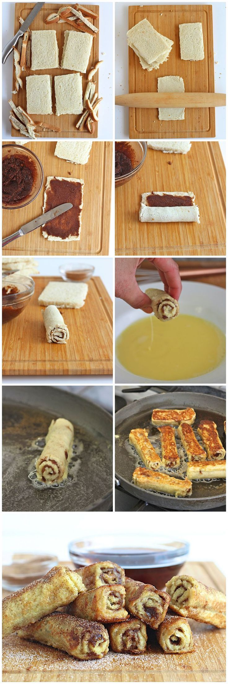 French Toast Roll Ups want to try with gluten free bread.