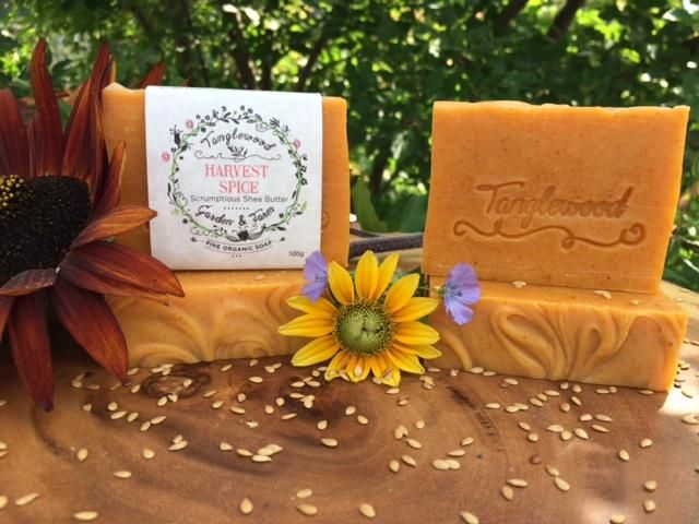 Harvest Spice~ Autumn Spiced Organic Soap with Flax Seed – Tanglewood Garden & Farm Fine Organic Herbal Soap