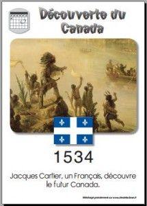 1534 Découverte du Canada par Jacques Cartier