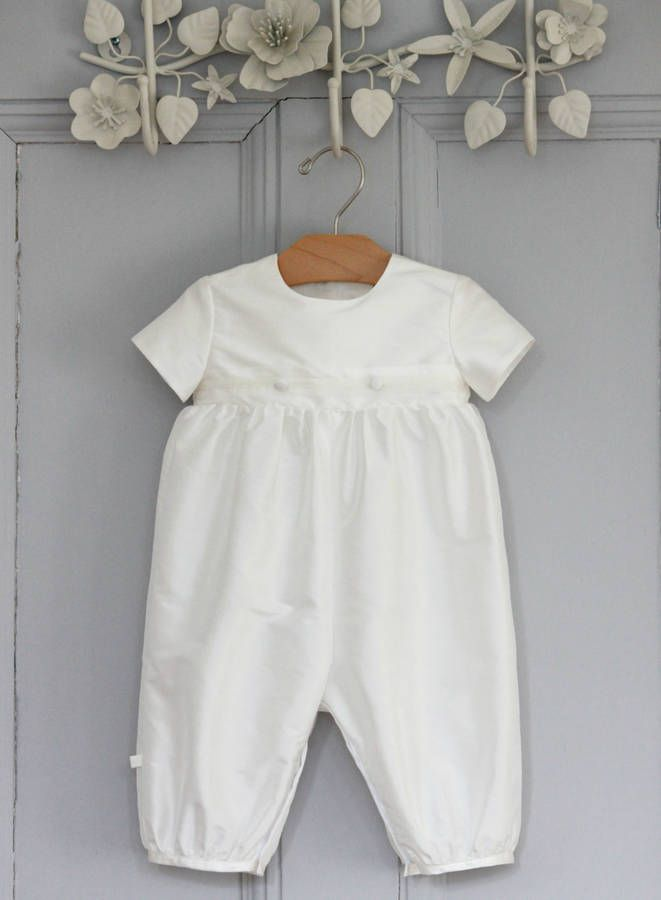 Boys 'George' Christening Romper Suit