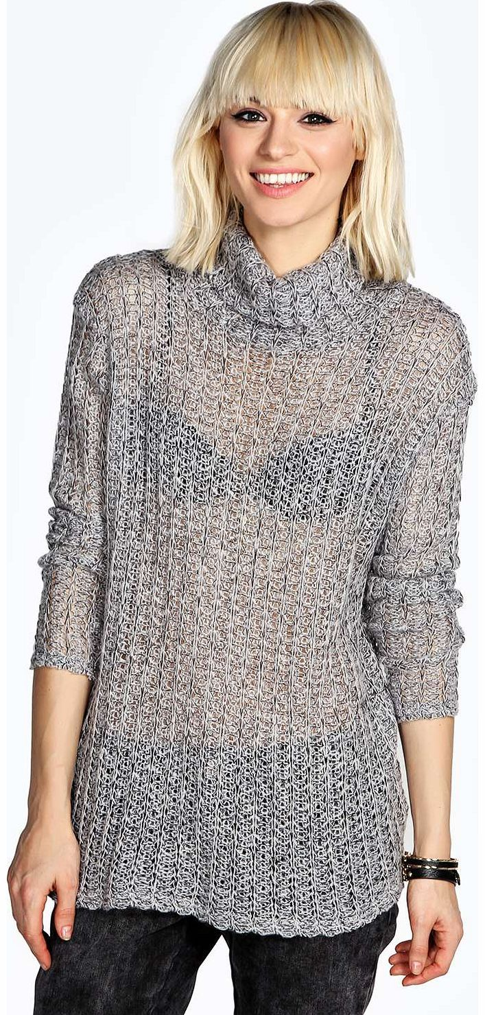 boohoo Lurain Marl Knit Roll Neck Tunic Jumper - grey Go back to nature with your knits this season and add animal motifs to your must-haves. When youre not wrapping up in woodland warmers, nod to chunky Nordic knits and polo neck jumpers in peppered mar http://www.comparestoreprices.co.uk/womens-clothes/boohoo-lurain-marl-knit-roll-neck-tunic-jumper--grey.asp