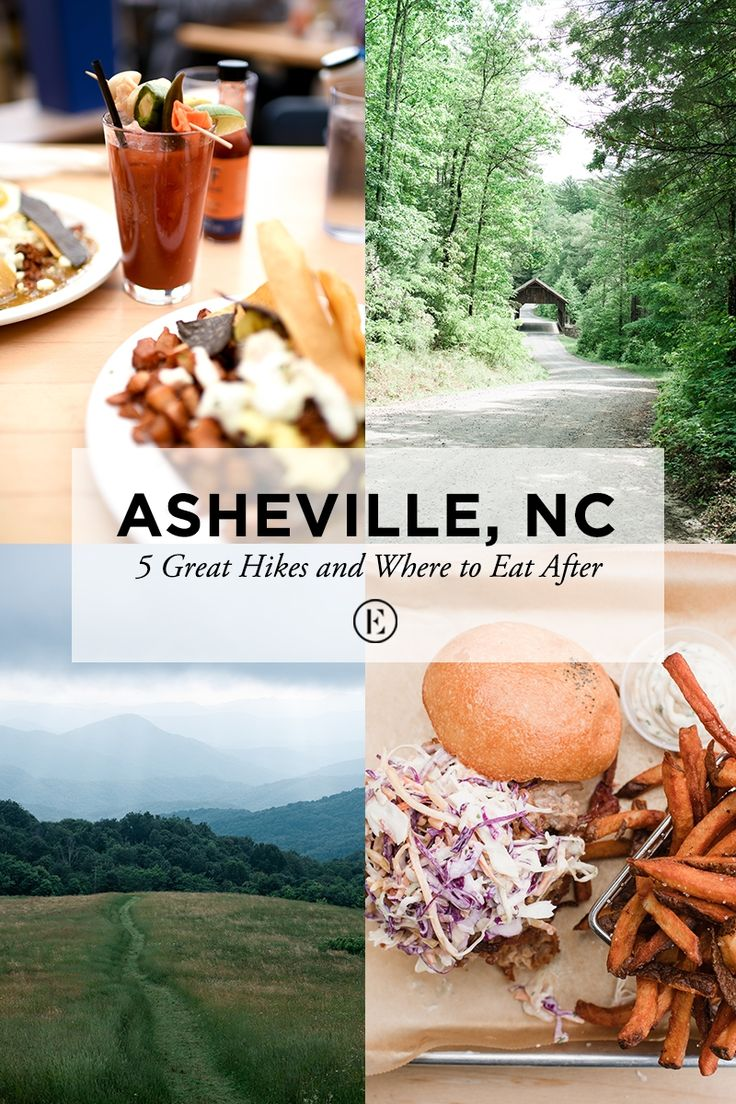 Asheville: 5 Great Hikes and Where to Eat After  #theeverygirl