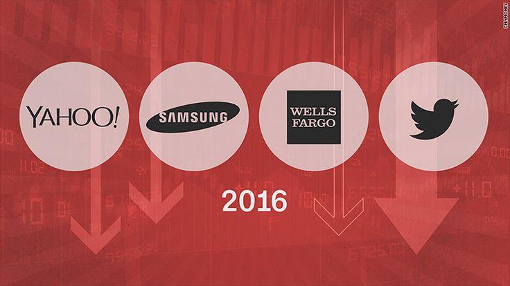These big companies had a terrible 2016