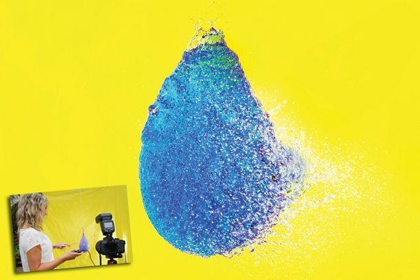 High-speed photography ideas: how to capture water balloons the instant they explode
