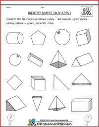 Printables Geometry Worksheets Pdf 1000 ideas about geometry worksheets on pinterest identify simple 3d shapes 1st grade worksheets