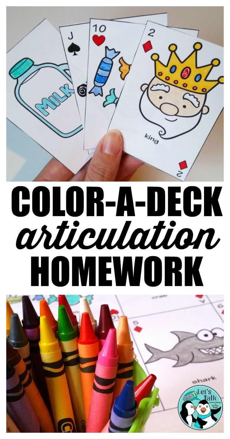 Coloring activities speech therapy - Speech Therapy Savings Bundle Color A Deck