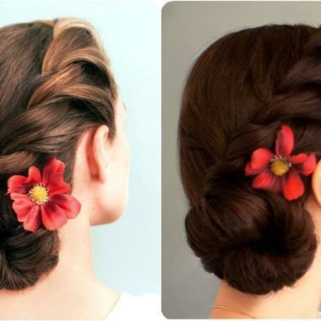 Bun Hairstyle For Saree Step By Step In 2020 Bun Hairstyles Hairstyle Saree Hairstyles