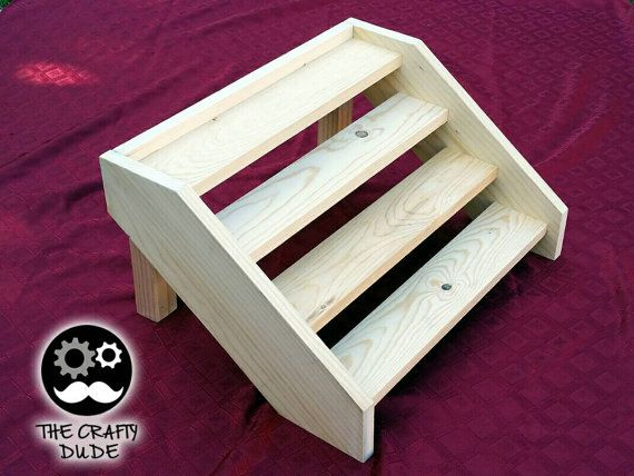 wooden stair cupcake stand for capacity of 24 by TheCraftyStand