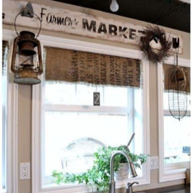 What A Cool Way To Have Cute Rustic Curtains In The Kitchen Decorating The Country Home