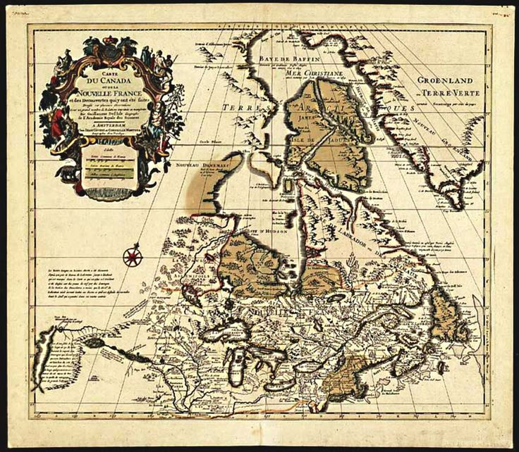Carte du Canada ou de la Nouvelle France et des Decouvertes qui y ont été faites (Map of Canada or New France and the Discoveries Made There) by Guillaume Delisle (c. post-1703)