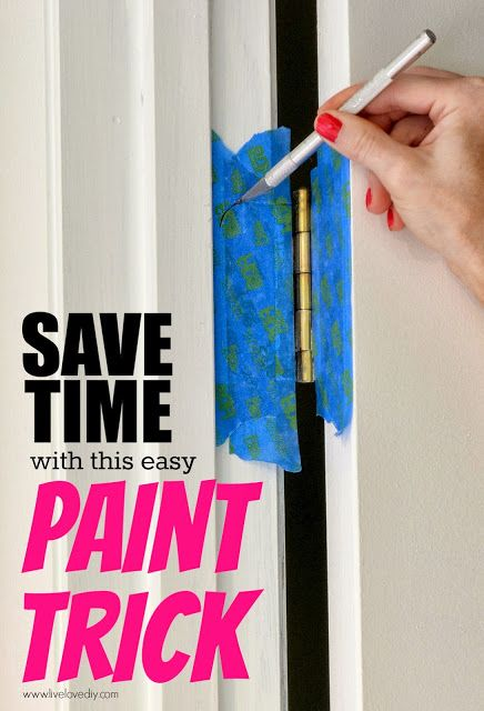 how to paint a door and not the hinges - Live Love DIY