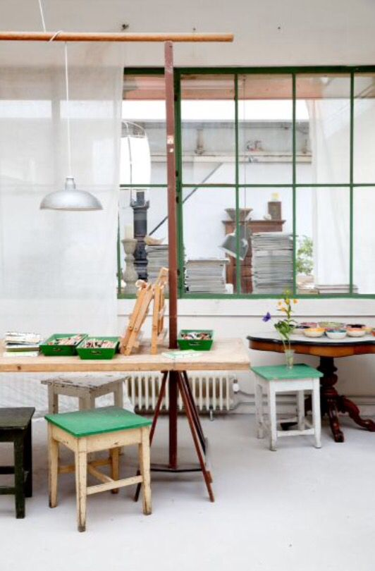 """This lovely studio is from our feature """"Loft of our Life"""""""